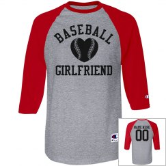 Cute Baseball Girlfriend With Custom Name And Number!
