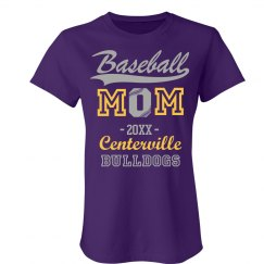 Baseball Mom Custom Year