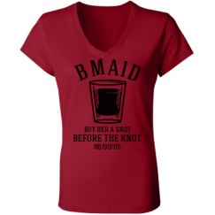 Ladies Slim Fit V-Neck Jersey Tee