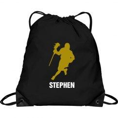 Custom Lacrosse Men Drawstring Bag