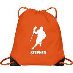 Custom Lacrosse Men Drawstring Bag