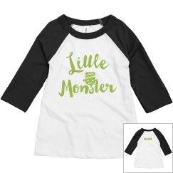 Toddler Matching Mom Little Monster