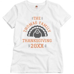 Custom Family Name Thanksgiving Tee