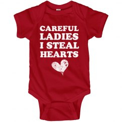 Heart Stealer Baby Onesie