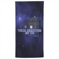 The Doctor Police Box Bath Towel