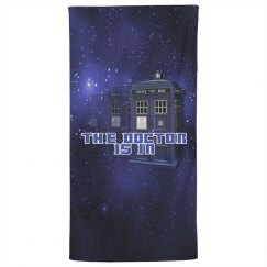 The Doctor Police Box Bath Towel