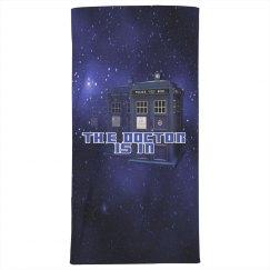The Doctor Police Box Beach Towel