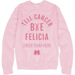 Cheerleader Breast Cancer Awareness