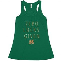 Zero Lucks Given with Shamrock