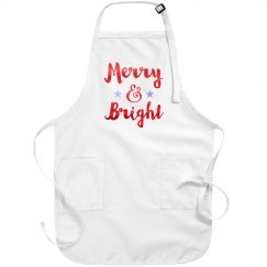Merry & Bright Christmas Apron