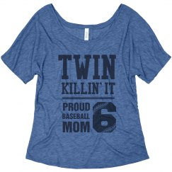 Twin Mom Loves Double Plays