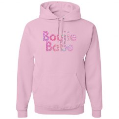 Boujie Babe Pink Glitter Text Unisex Hoodie
