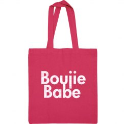 Boujie Babe Pearl White Text Tote Bag