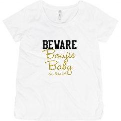 BEWARE Gold Boujie Baby Maternity Short Sleeve T-Shirt
