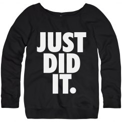 just did it fitness fashion womens sweater