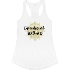 Intentional Wellness Tank (White/Gold)