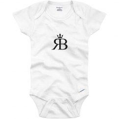 Red Bottoms Baby Onesie- Blk Logo
