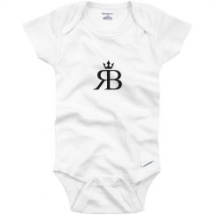 Red Bottoms Baby Onesie- Blk Logo