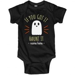 Haunt It Custom Baby Bodysuit