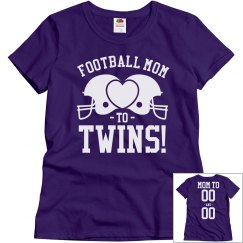 A Football Mom and Her Twins Shirt