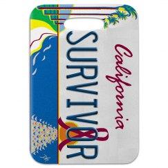 California Survivor Luggage Tag