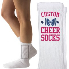 Customizable Cheer Socks