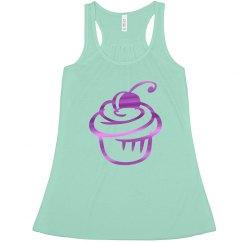 Purple cupcake tank top.