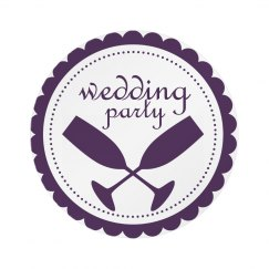 Wedding Party Pin Badge