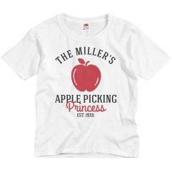Custom Family Apple Picking Princess