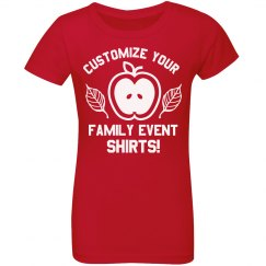 Custom Kids Family Fall Event Text