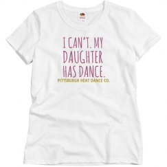 I Can't | (White | Relaxed Fit T) Dance Mom