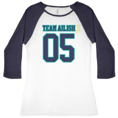Navy ladies raglan