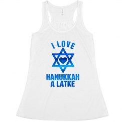 Blue Metallic Hanukkah Love