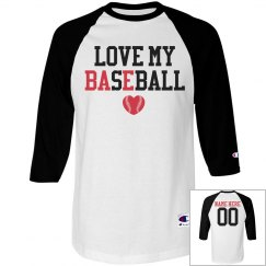 Love My Bae Baseball Girlfriend Shirt With Custom Back