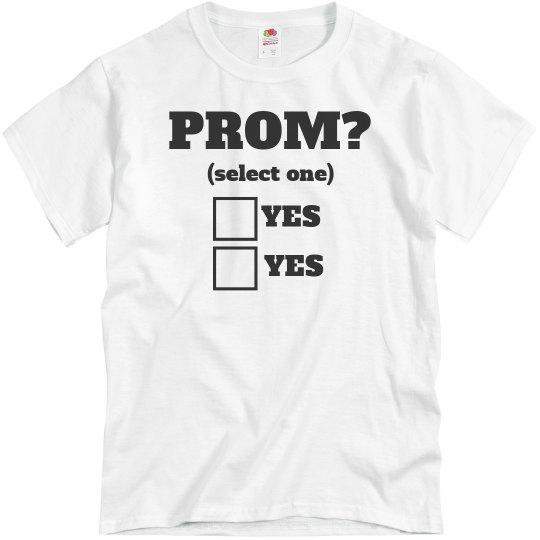 cf80cba33 His Funny Prom Proposal Shirt Unisex Basic Promo T-Shirt