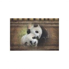 Panda Bear Love Bamboo Designer Art