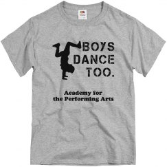 Men's Boys Dance Too T
