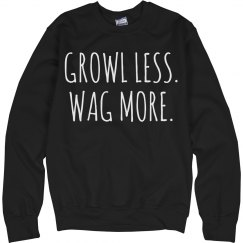 growl less wag more boy