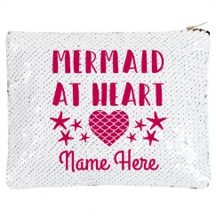 Custom Name Mermaid Sequin Zip Bag