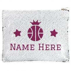 Basketball Crown Custom Name Bag