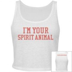 Spirit Animal Crop - Coral