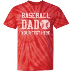 Baseball Dad Custom Fan Tee