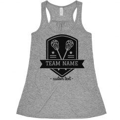 Lacrosse Custom Lax Team Name Sporty Crop
