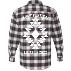 Custom Boho Music Festival Flannel