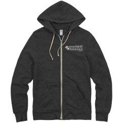 Unisex Eco-Fleece Rocky Full Zip Hoodie BLACK