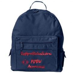 MMIW awareness backpack