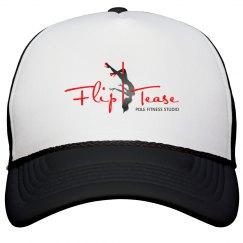 Flip Tease Trucker Hat - Black