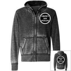 Dark Smoke Zipper Unisex Hoodie