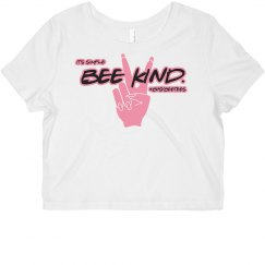 Bee kind crop top tee