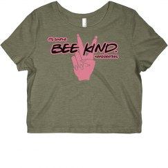 Bee kind crop top tee